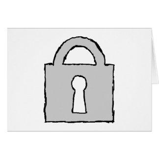 Candado. Icono secretísimo o confidencial Tarjeta De Felicitación