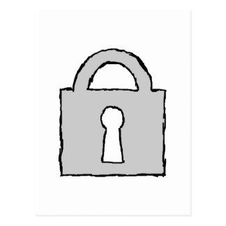Candado. Icono secretísimo o confidencial Postal