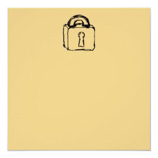 Candado. Máximo secreto o icono de la seguridad Invitación 13,3 Cm X 13,3cm