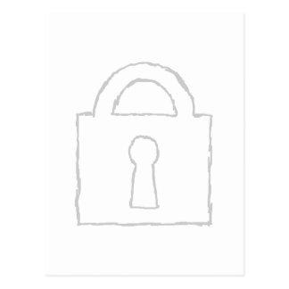 Candado. Máximo secreto o icono de la seguridad Postal