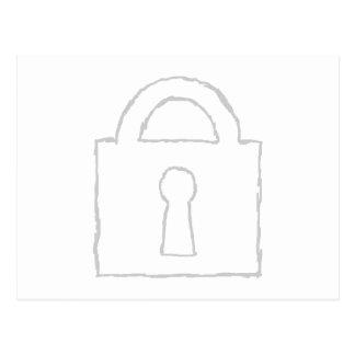 Candado Máximo secreto o icono de la seguridad Postal