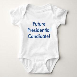 ¡Candidato presidencial futuro! Azul de Demócrata Body Para Bebé