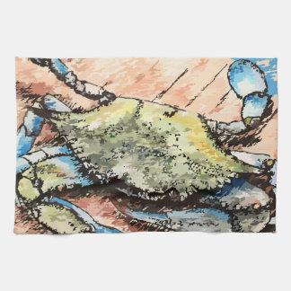 Cangrejo azul paño de cocina
