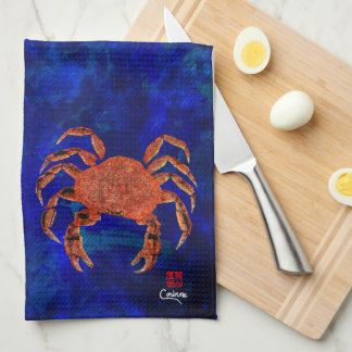 Cangrejo de Dungeness - toalla de cocina