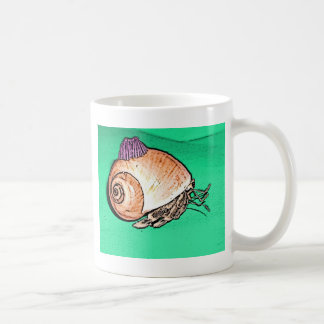 Cangrejo de ermitaño con un gorra de Shell de la Taza De Café