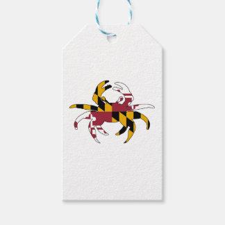 Cangrejo de la bandera de Maryland Etiquetas Para Regalos