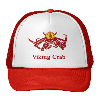 Cangrejo de Viking Gorros Bordados
