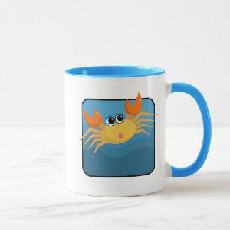Cangrejo del dibujo animado taza