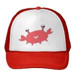 Cangrejo rojo feliz lindo gorras de camionero