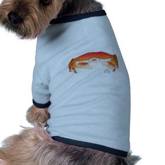 Cangrejo rojo camisetas de perrito