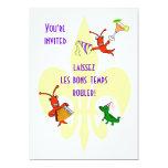 Cangrejos de Cajun y fiesta de la flor de lis del Invitación 12,7 X 17,8 Cm