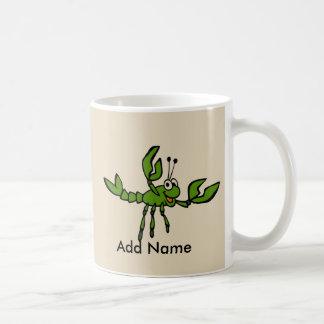 Cangrejos de risa verdes taza de café