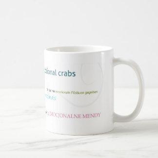 Cangrejos emocionales banales taza de café