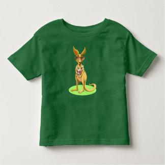 Canguro con los vidrios camiseta de bebé