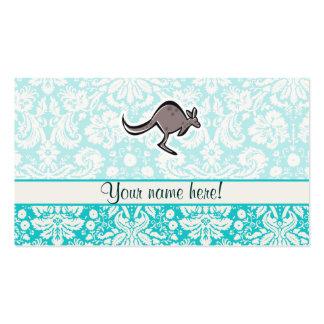 Canguro lindo del dibujo animado tarjetas de negocios