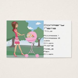 Canguro, niñera tarjeta de negocios