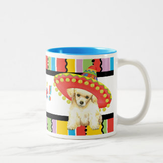 Caniche de juguete de la fiesta taza bicolor