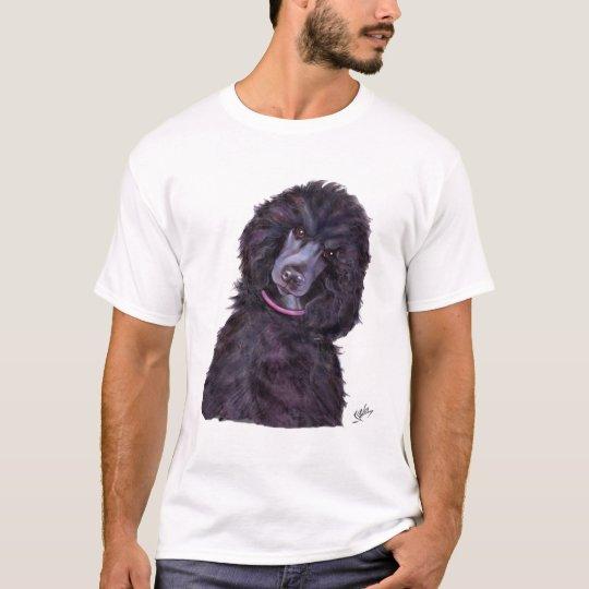 Caniche estándar negro camiseta