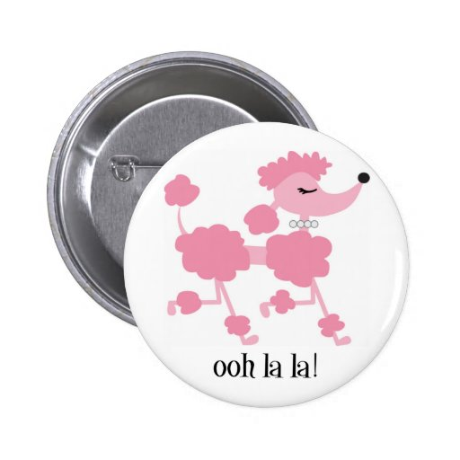 caniche rosado pin