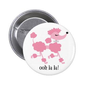 caniche rosado chapa redonda de 5 cm
