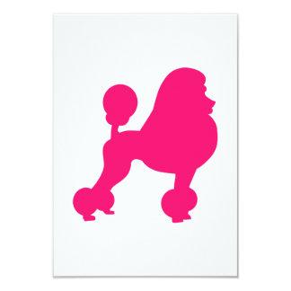 Caniche rosado invitación 8,9 x 12,7 cm