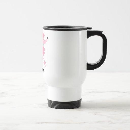caniche rosado tazas de café