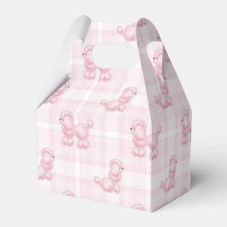 Caniches y controles rosados lindos caja de regalos