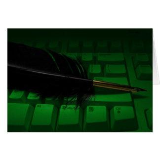 Canilla y teclado tarjeta pequeña