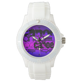 Canoa; Azul violeta y magenta vibrantes Reloj