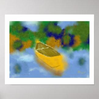 Canoa en arte del agua