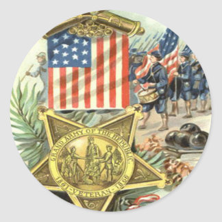 Cañón de marzo Eagle del ejército de la medalla de Pegatina Redonda