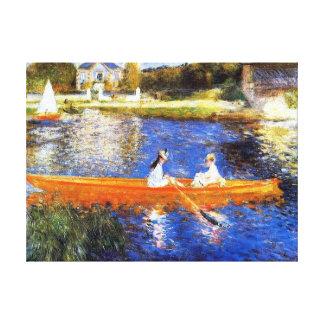Canotaje en la bella arte de río Sena Renoir