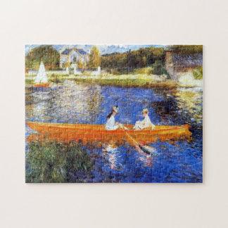 Canotaje en la bella arte de río Sena Renoir Puzzle