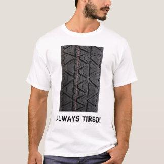 """""""Cansó siempre"""" el tipo camiseta de la pisada"""