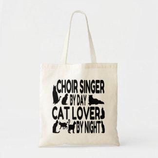 Cantante del coro del amante del gato bolso de tela