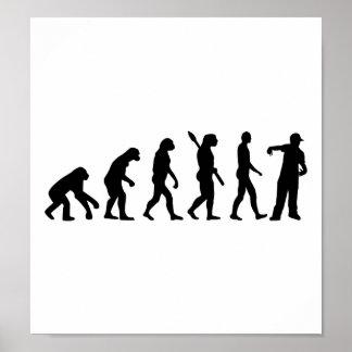 Cantante del golpeador de la evolución poster