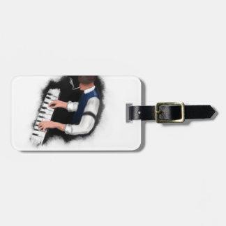Cantante del piano etiquetas para maletas