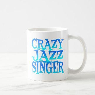 Cantante loco del jazz taza de café