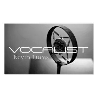 Cantante, vocalista, a solas, entretenimiento del  tarjetas de visita