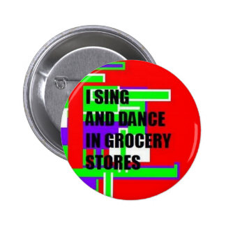 Cante/botón de la danza chapa redonda 5 cm