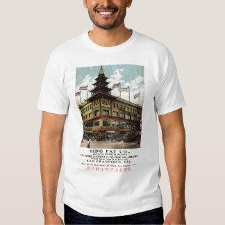 Cante el vintage gordo 1915 de Chinatown San Camisetas