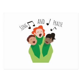 Cante y elogie postal