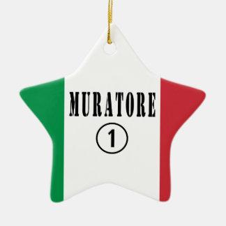 Canteros italianos: Uno de Muratore Numero Adorno De Cerámica En Forma De Estrella