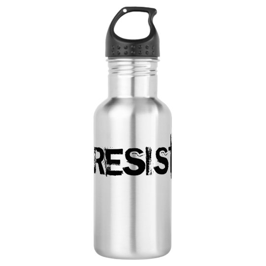 Cantina del acero inoxidable del #RESIST - texto Botella De Agua