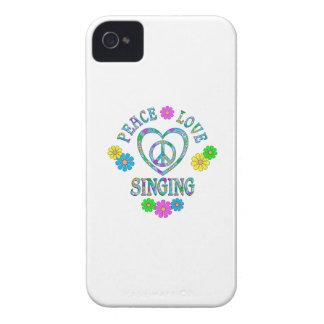 Canto del amor de la paz iPhone 4 fundas