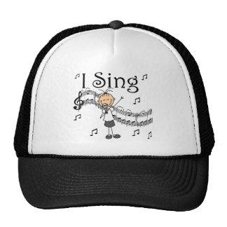 Canto la figura musical camisetas y regalos del gorra