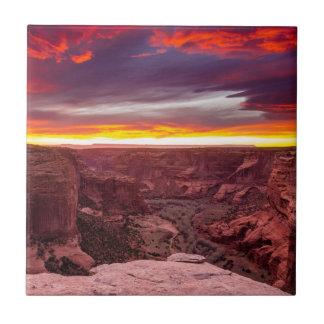 Canyon de Chelly, puesta del sol, Arizona Azulejo Cuadrado Pequeño