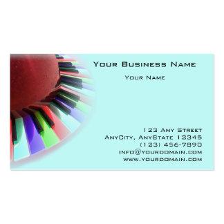 Caos del teclado brillante en azul plantilla de tarjeta personal