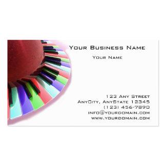 Caos del teclado brillante en blanco plantillas de tarjeta de negocio