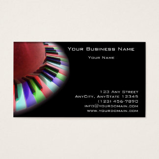 Caos del teclado brillante en negro tarjeta de negocios